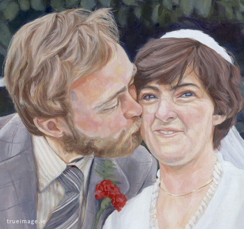 couple portrait painting detail