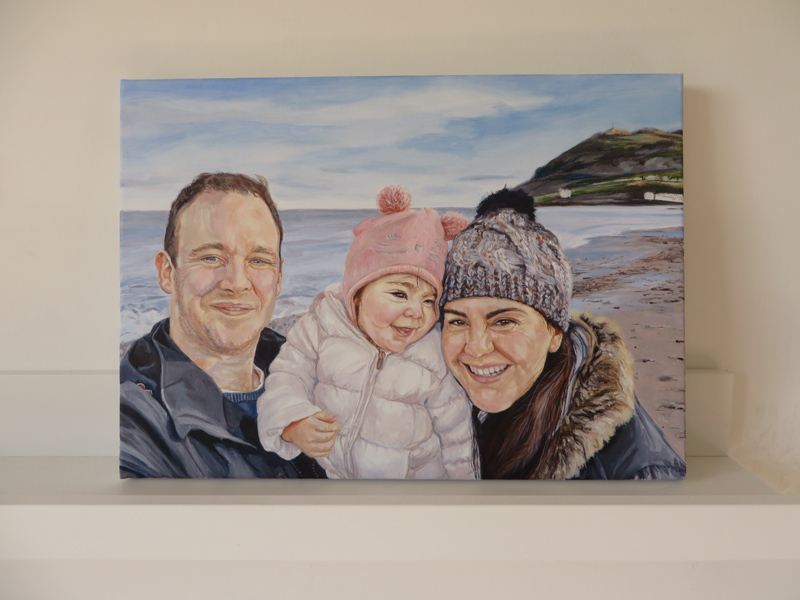 the finished acrylic portrait painting