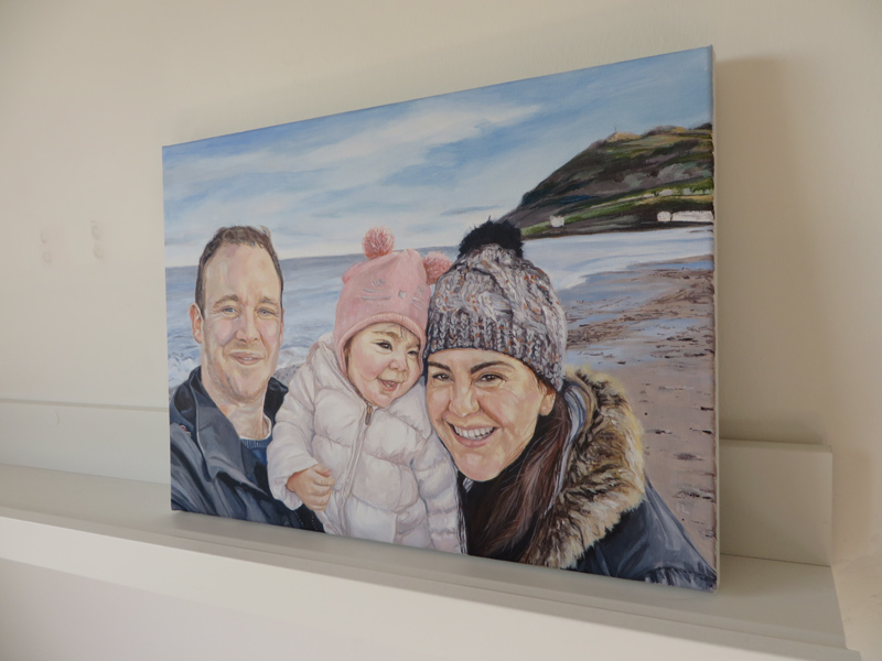 acrylic family painting on canvas
