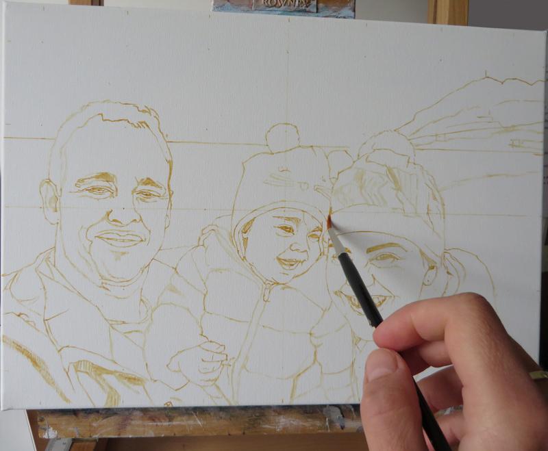 initial sketch family portrait